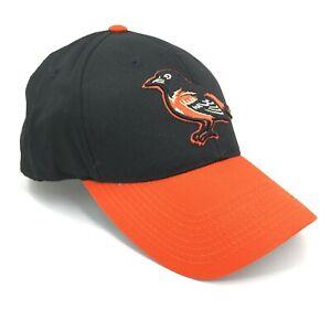 Baltimore-Orioles-Al-Aire-Libre-Gorra-o-de-S-Beisbol-Negro-Plana-Naranja-Curvo