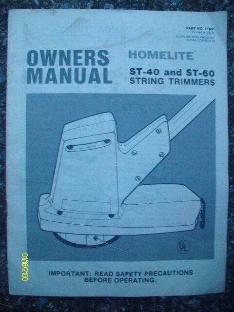 Original Vintage Homelite ST-40 St-60 String Trimmers