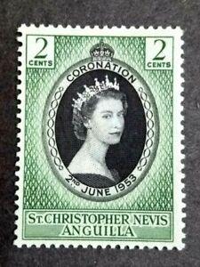 1953 St. Christopher Nevis Anguilla Queen Elizabeth Coronation Single Issue MNH