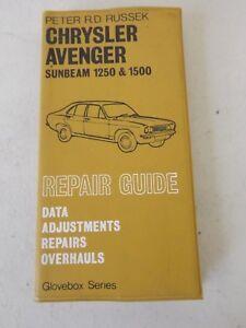 chrysler avenger sunbeam 1250 1500 repair guide peter russek rh ebay co uk Michael Russek Erin Russek Block of Month