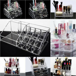 Acrylic-Makeup-Box-Cosmetic-Organizer-Drawer-Holder-Clear-Storage-Case-Jewelry