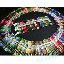 Escoja su color, 100 madejas DMC 117 bordado hilo de punto de cruz Rellene lista