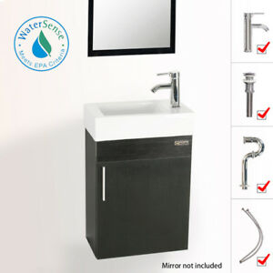 19 Eclife Small Floating Bathroom Vanity W Ceramic Sink Faucet Drain Combo 728360147950 Ebay