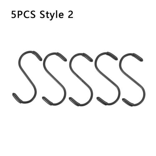 10Pcs S Shaped Stainless Steel Hooks /& Rails Kitchen Household Hanger Storage#