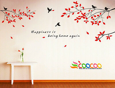 Wall Decor Decal Sticker Removable tree branche birds 2