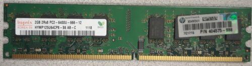 Lot of 4 Hynix 2GB 2Rx8 PC2-6400U-666-12 Server Memory HYMP125U64CP8-S6
