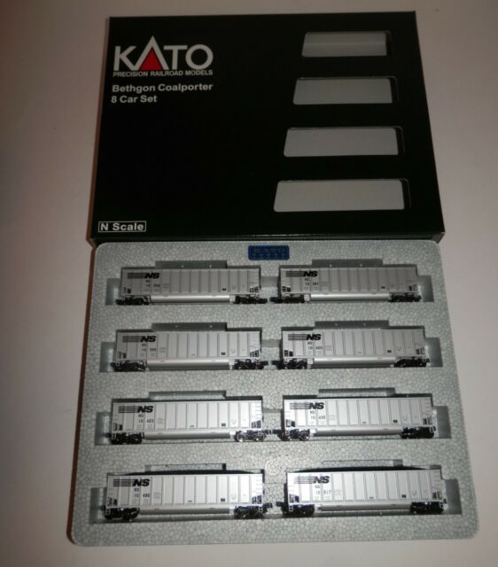 Kato N Scale NS Bethgon Coalporter 8 Car Set #106-4623 NIB