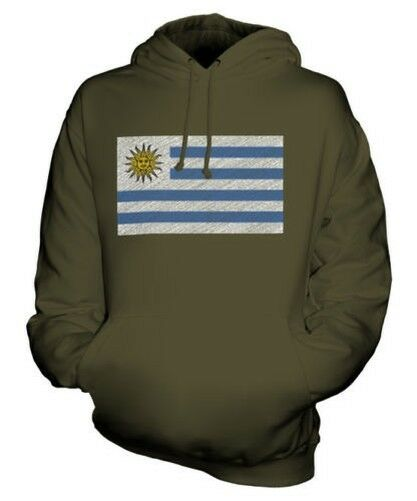 Uruguay Scribble Flag Unisex Kapuzenpulli Top Geschenk Republik Orientalische