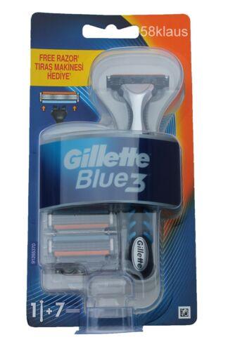 7 lame//1 6 Gillete GILETTE anche Excel Gillette BLUE 3 RASOIO Set Incl