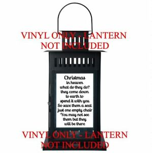 Christmas In Heaven Lantern.Details About Christmas In Heaven What Do They Do Ikea Lantern Vinyl Decal Memorial Sticker