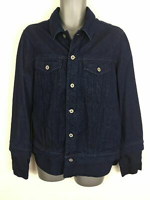 "Coats & Jackets Genial Mens Asos Dark Blue Denim Button Smart Casual 1 Piece Shirt/jacket 42-44"" Chest"
