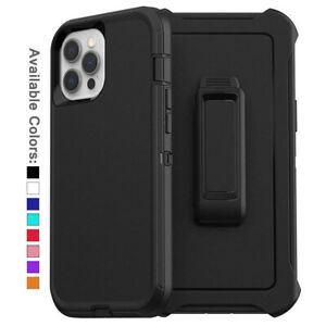 For Apple iPhone 12 Pro Max Case Cover Shockproof Series Fits Defender Belt Clip