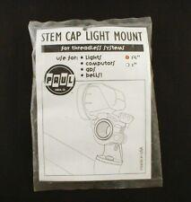 "360BLACK Paul Components Stem Cap Bike Headlight Mount 1-1//8/"" Black"