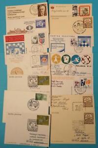 Polen-Briefe-Karten-Ganzsachen-mit-Sonderstempel-Schach-ueber-70-Belege