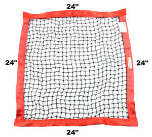 "RACERDIRECT SFI 27.1 RECTANGLE RIBBON SAFETY WINDOW NET 24/"" X 18/"" RED"