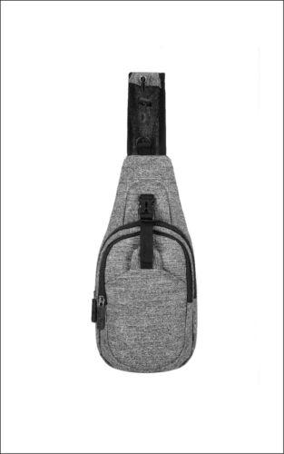 Unisex Schultertasche grau meliert Tasche Fächer Reißverschluss bags2GO BS17126