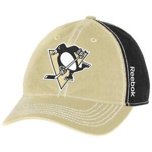 Pittsburgh Penguins Cap NHL Hockey Reebok One Size Kappe Neu Eishockey Klett Weitere Wintersportarten