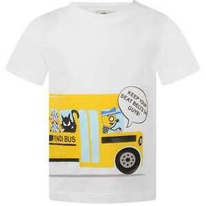 Stupendous Details About Nwt New Fendi Baby Boys White T Shirt Yellow Bus Print 3M Dailytribune Chair Design For Home Dailytribuneorg