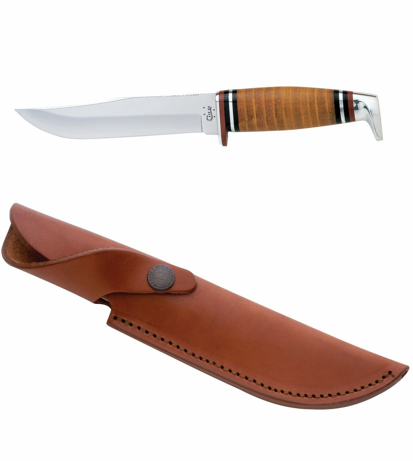 Case Xx 385 Hunting Knife 5 Quot Clip Blade Leather Handle W