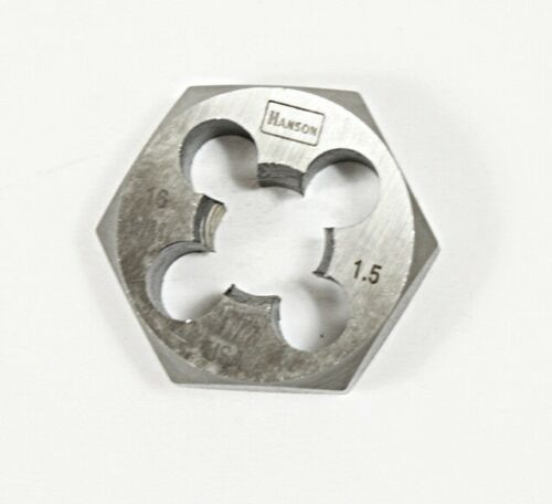 Irwin Hanson 16mm 1.5 Hexagonal Roscado Die Made In U.s.a