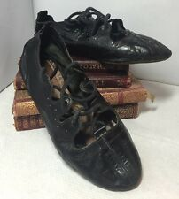 Dainty Vintage 1930s 1940s Stanmar Childs Girls Leather Dance Ballet Shoes