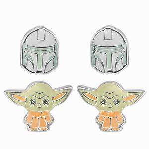 Star-Wars-The-Mandalorian-Helmet-and-the-Child-Stud-Earrings-Set