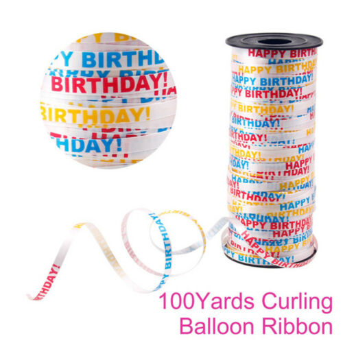 100 Yard Gifts Wrapping Balloon Ribbon Roll Silk Curling DIY Party Supplies