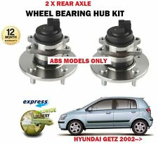 FOR HYUNDAI GETZ 1.1 1.3 1.4 1.5 1.6 2002-> 2X ABS REAR WHEEL BEARING HUB KITS