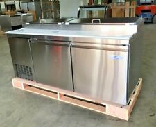 New 71 Commercial Pizza Prep Table Refrigerator Cooler Depot Model Picl2 Nsf