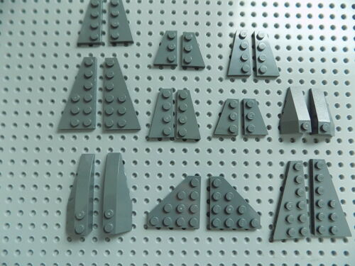 Lego lot of 20 Dark Blue Gray Wings Wedge Space Ship Airplane Parts Piece