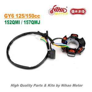 TZ-09B-125cc-150cc-Stator-6-Pole-DC-Magneto-Coil-GY6-Parts-Chinese-Scooter