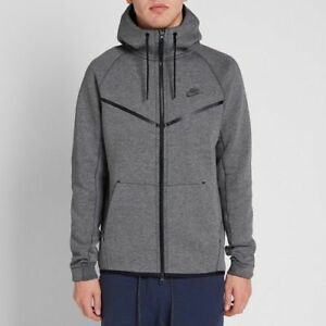 incredible prices biggest discount cheapest price Details about Nike Tech Fleece Windrunner jacket Mens 805144-091 Grey Full  Zip Hoody Size M,XL