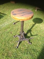 Rigenerate Wood Top Bar Stool ghisa base industriale Wood Top SGABELLO
