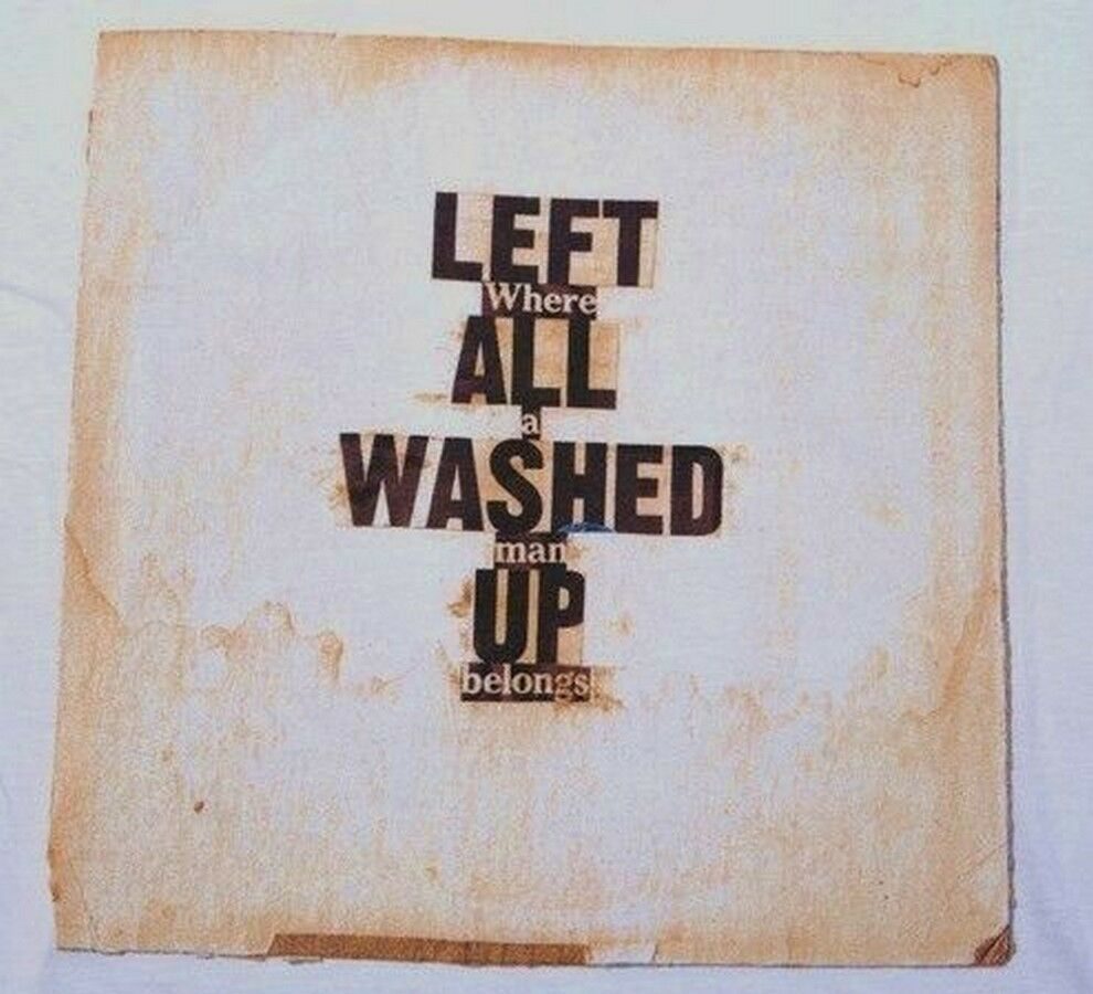 DASH SNOW x RVCA 'Left All Washed Up', 2008 T-Shirt S Limited Edition RARE NWT