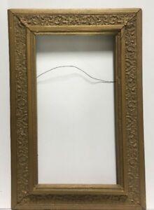 """VTG. Art Nouveau Art Deco Victorian Wood Picture Frame Fits 10 1/2""""x 19"""""""