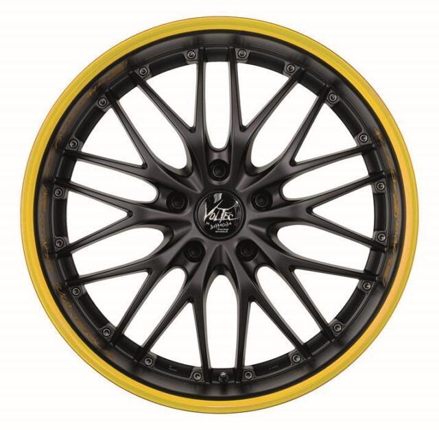 BARRACUDA VOLTEC T6 Mattblack Puresports / Color Trim gelb Felge 9x20 - 20 Zoll