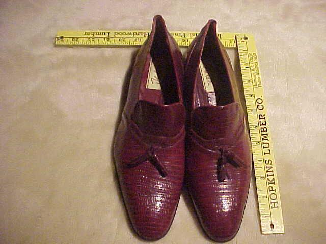 Zapatos De Vestir Para Hombre Original reptil John Weitz N.Y. Talla 9.5 Color Borgoña
