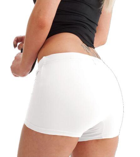 Womens Stretch Elasticated Plain Hot Pants Shorts Ladies Girls Dance Gym Shorts