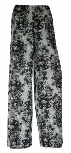 Womens Aztec Print Palazzo Trousers Ladies Wide Leg Baggy Trousers Pants 8-26