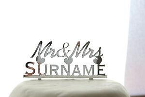 Personalised-Cake-Topper-Mr-amp-Mrs-Wedding-or-Anniversary-Keepsake-FREE-GIFT-BAG