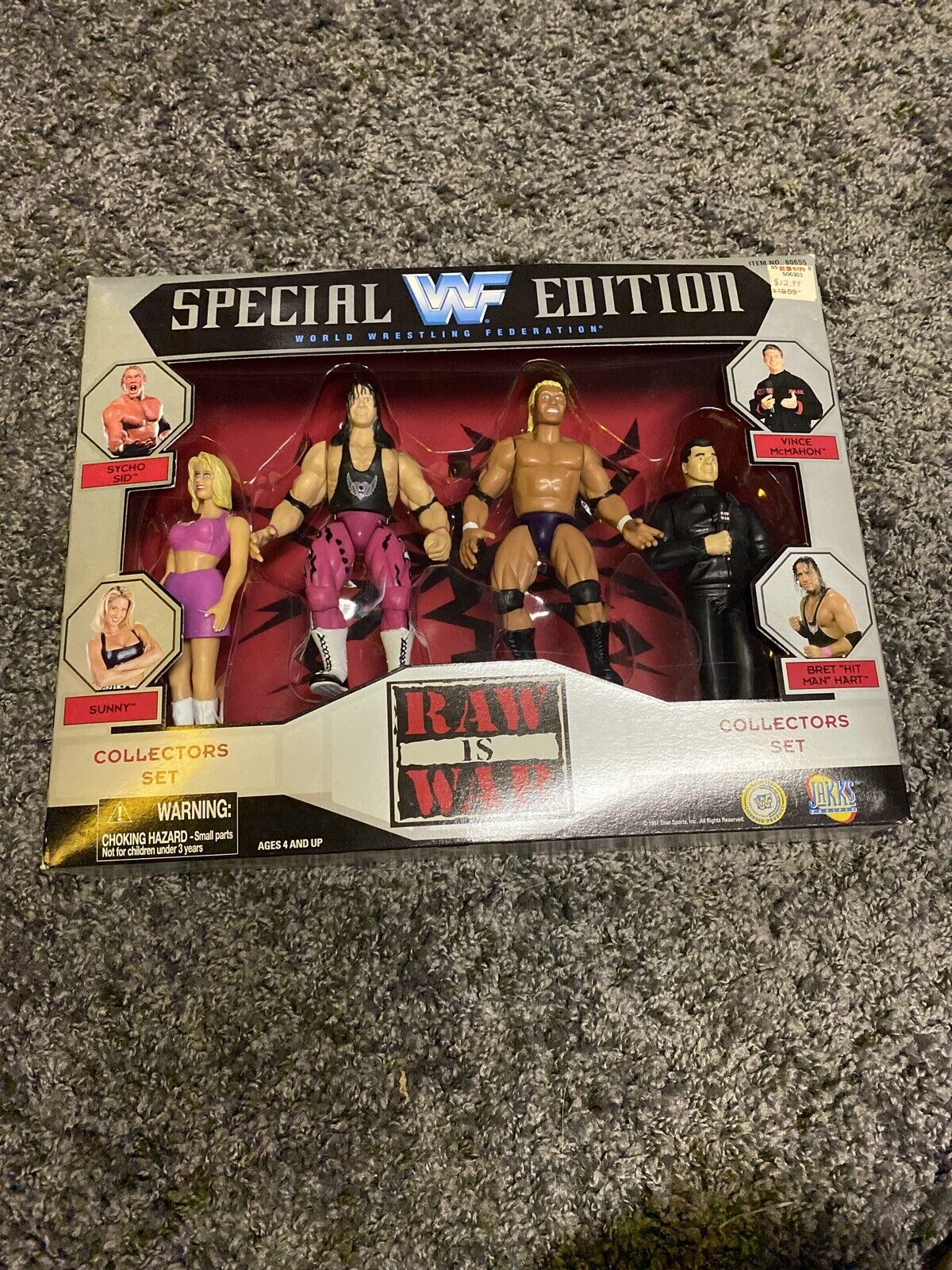 Wwf Raw Is War Se With Sycho Sid Sunny Mcmahon Bret Hart Figures 1997 T706 For Sale Online Ebay