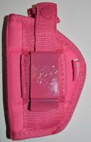 Pink Gun Hip Side Holster For S & W 38 Special 5 Shot +free Makeup Palette
