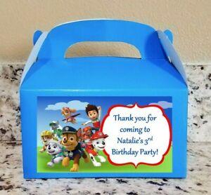 12 Paw Patrol Favor Boxes Paw Patrol Candy Bags