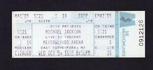 Michael-Jackson-1988-Malo-Tour-sin-Usar-Concierto-Ticket-Nj-Hombre-en-la-Espejo