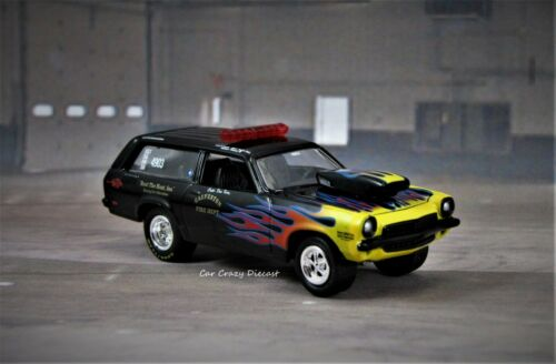 1972 Chevy Vega Station Wagon Fire Department Drag Racing 1//64  die cast model O