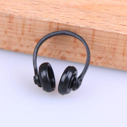 2Pcs 1//12 Dollhouse miniatures plastic earphone headphone doll house decor KU