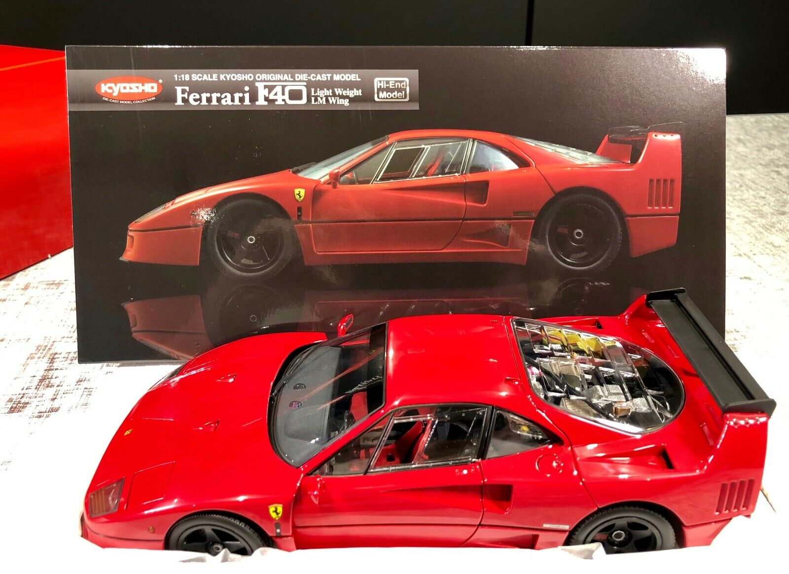 Kyosho 4548565197613 Ferrari F40 Light Weight Lm Wing 1 18 Scale Car Edition For Sale Online Ebay