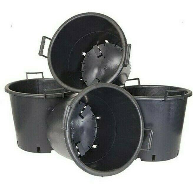 BN V By Very Pack Of 4 Heavy Duty 30 L Pots With Handles Black