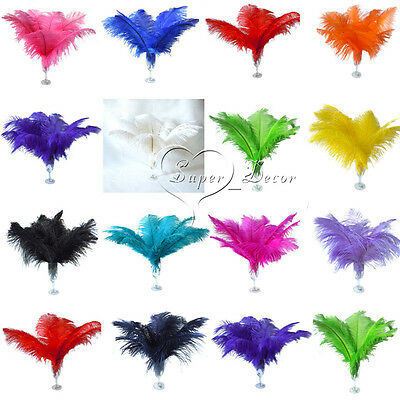 10pcs 8-16inch/20-40cm High Quality Natural OSTRICH FEATHERS Wedding Party