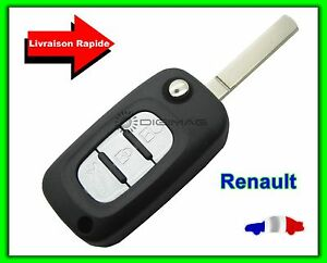 coque t l commande plip cl renault 3 boutons clio kangoo master lame vierge ebay. Black Bedroom Furniture Sets. Home Design Ideas